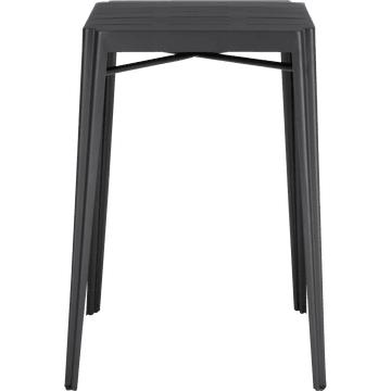 Table haute carrée en métal gris anthracite-TRIVIA