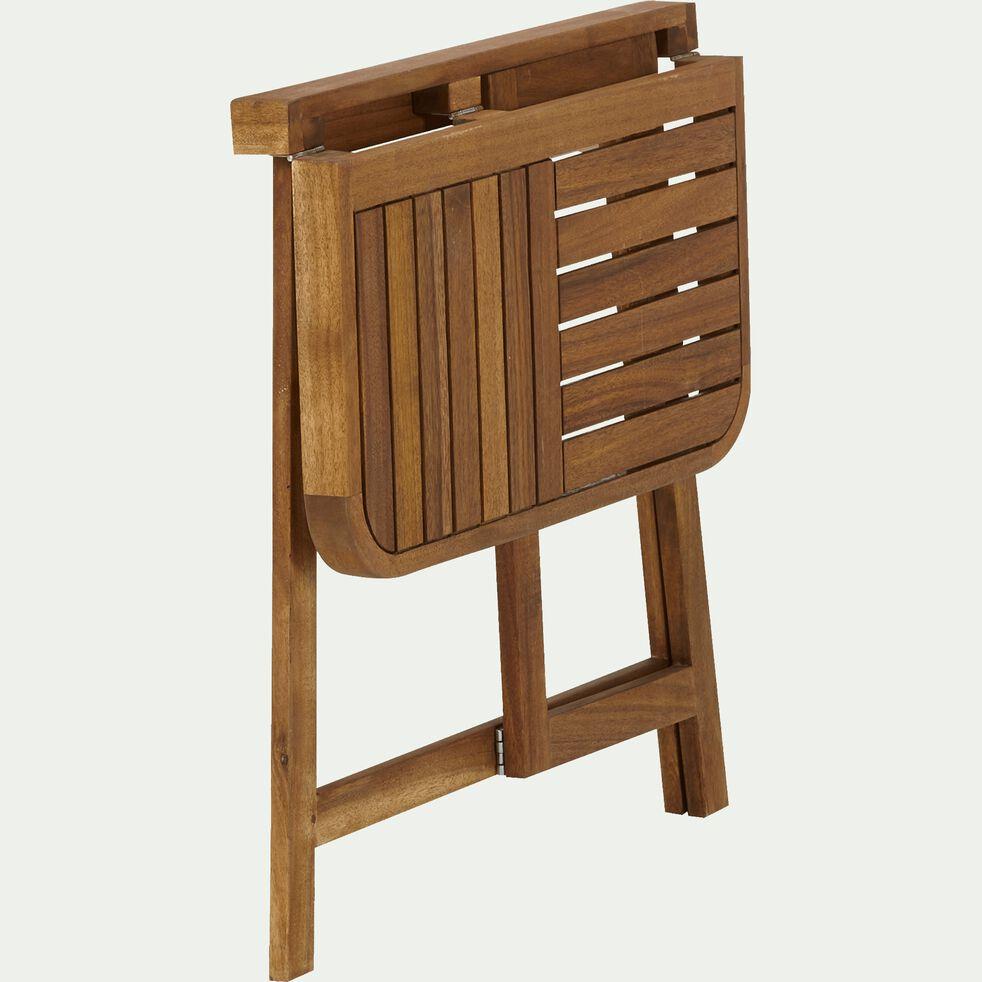 Demi table d'appoint pliante en acacia huilé (2 places)-Youk
