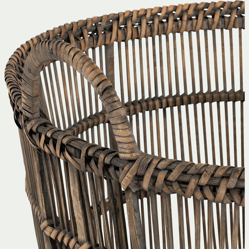 Panier en bambou tressé L31xl22xH36cm-RODRIGO