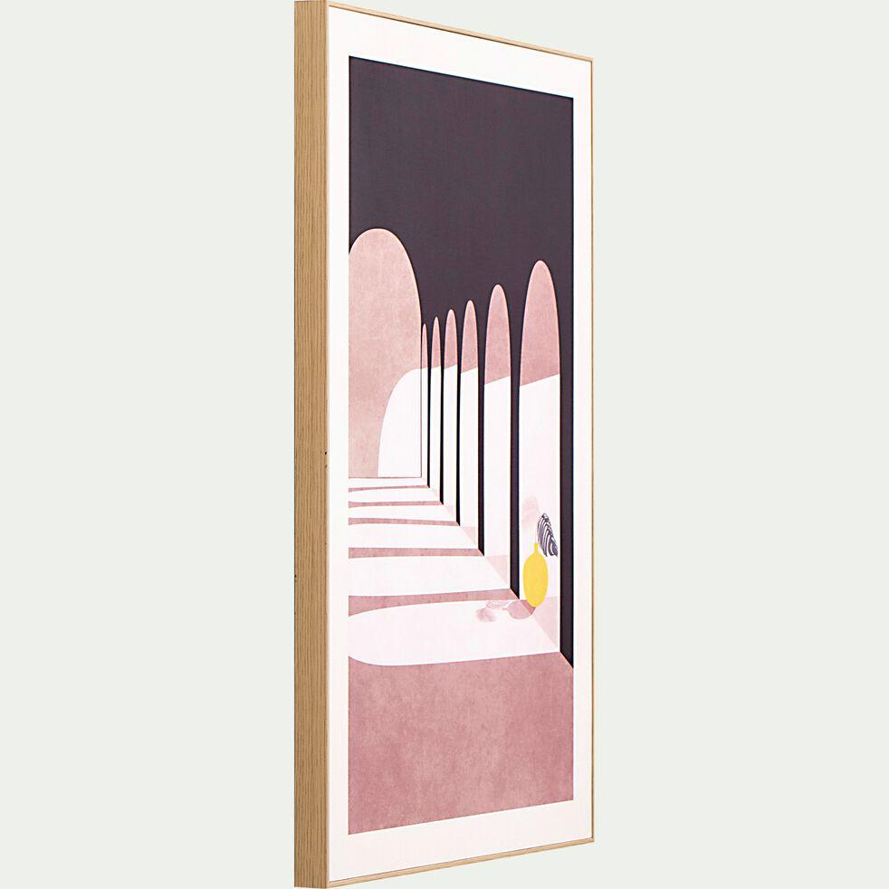 Image encadrée arc duc 50x70cm - rose-POUNTA