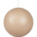 Bougie ronde rose argile D8cm-HALBA