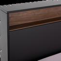 Lit en plaqué chêne 160x200cm-FRIDA