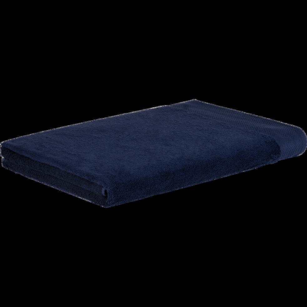 Drap de bain en coton 100x150cm bleu myrte-AZUR