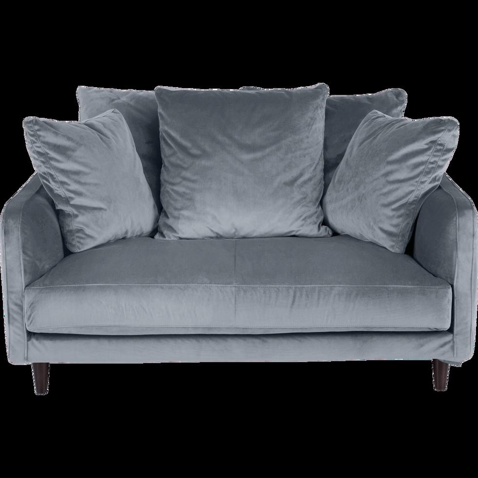 canap 2 places fixe en velours gris restanque lenita la s lection velours alinea. Black Bedroom Furniture Sets. Home Design Ideas