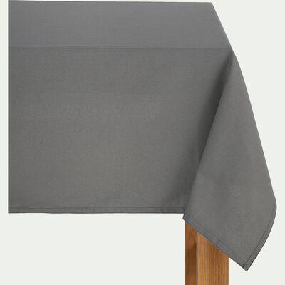 Nappe en coton gris borie 145x250cm-VENASQUE