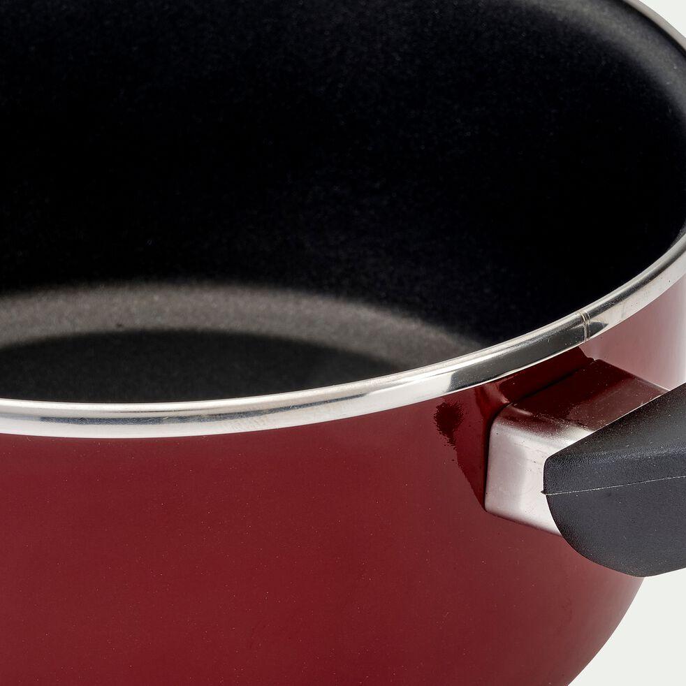Casserole en acier émaillé - rouge cade D18cm-CAMPI