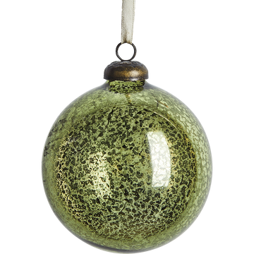 Boule de Noël en verre vert D10cm-SOLIS