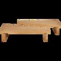 Table basse modulable plaquée chêne-DOL