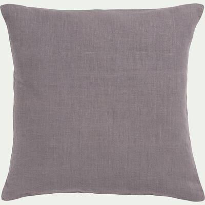 Coussin en lin lavé gris restanque 45x45cm-VENCE