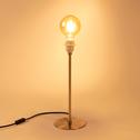 Pied de lampe en métal doré brossé H41cm-ROSARIO