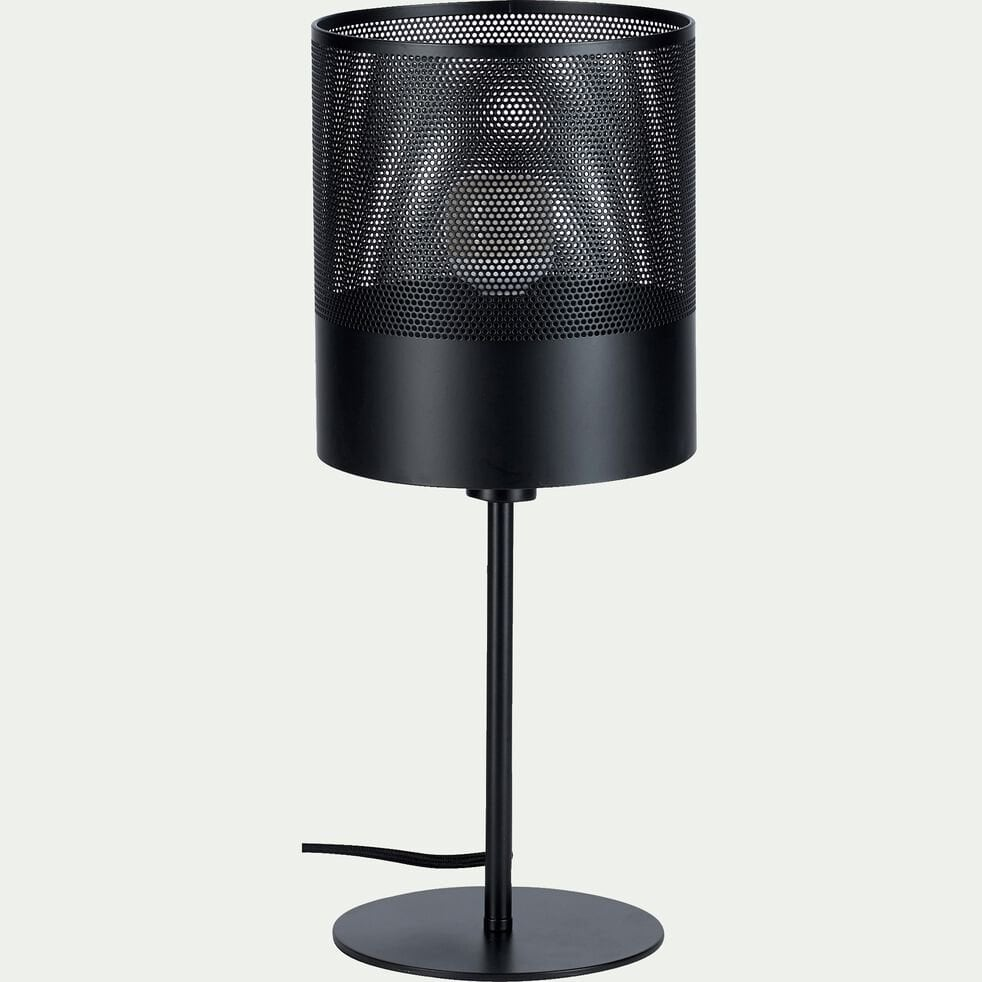 Lampe en métal noir H40cm-CLOTILDE