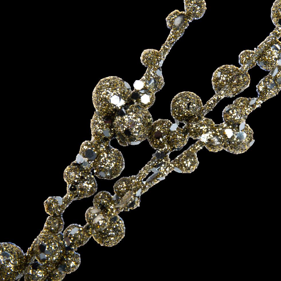 Branchage artificiel en plastique doré H139cm-QUANH
