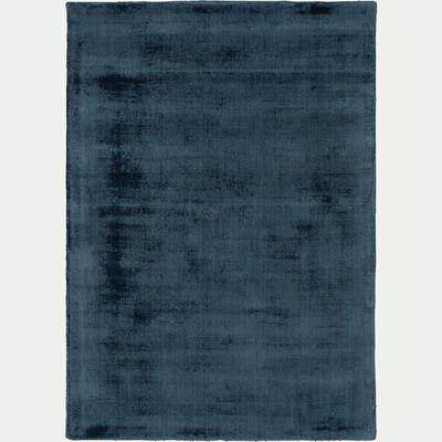 Tapis moiré bleu figuerolles 120x170cm-EDEN