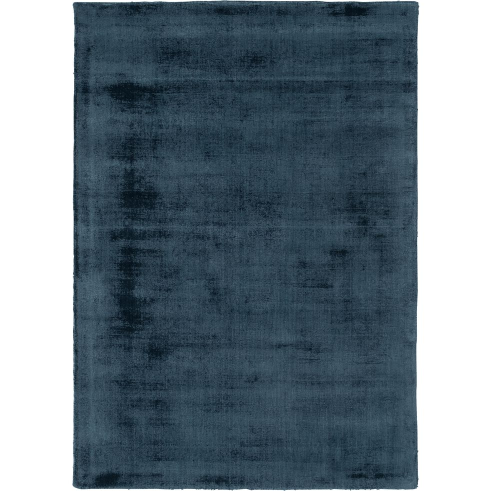 eden tapis moire en viscose bleu figuerolles 120x170cm