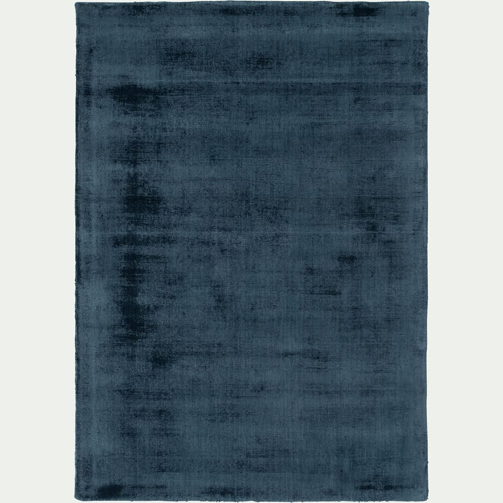 Tapis moiré en viscose - bleu figuerolles 120x170cm-EDEN
