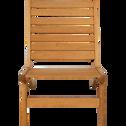 Chaise basse de jardin en eucalyptus-CARROS