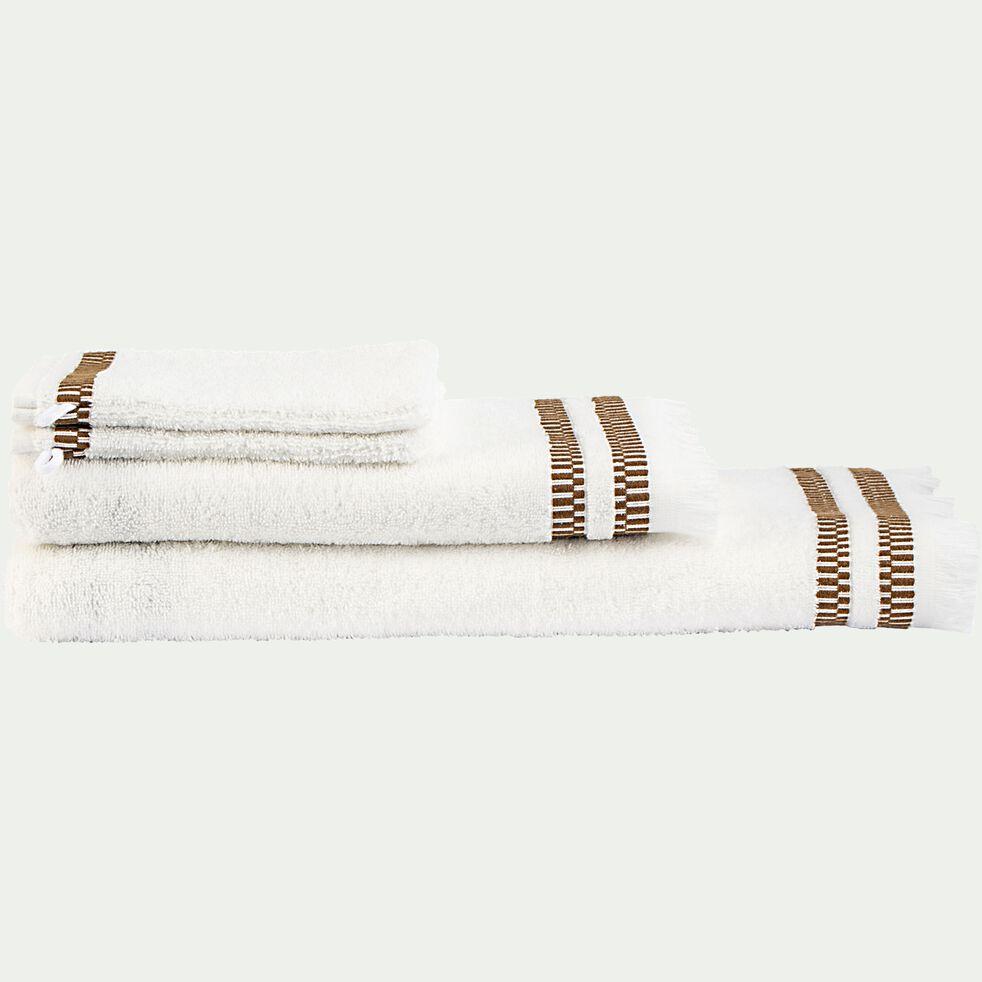 Drap de douche en coton peigné - blanc ventoux 70x140cm-Garance