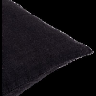 Coussin de sol en lin lavé gris calabrun 70x70cm-VENCE