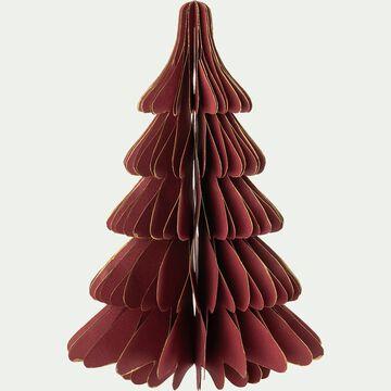 Sapin décoratif en papier - rouge H25cm-ALPILLES