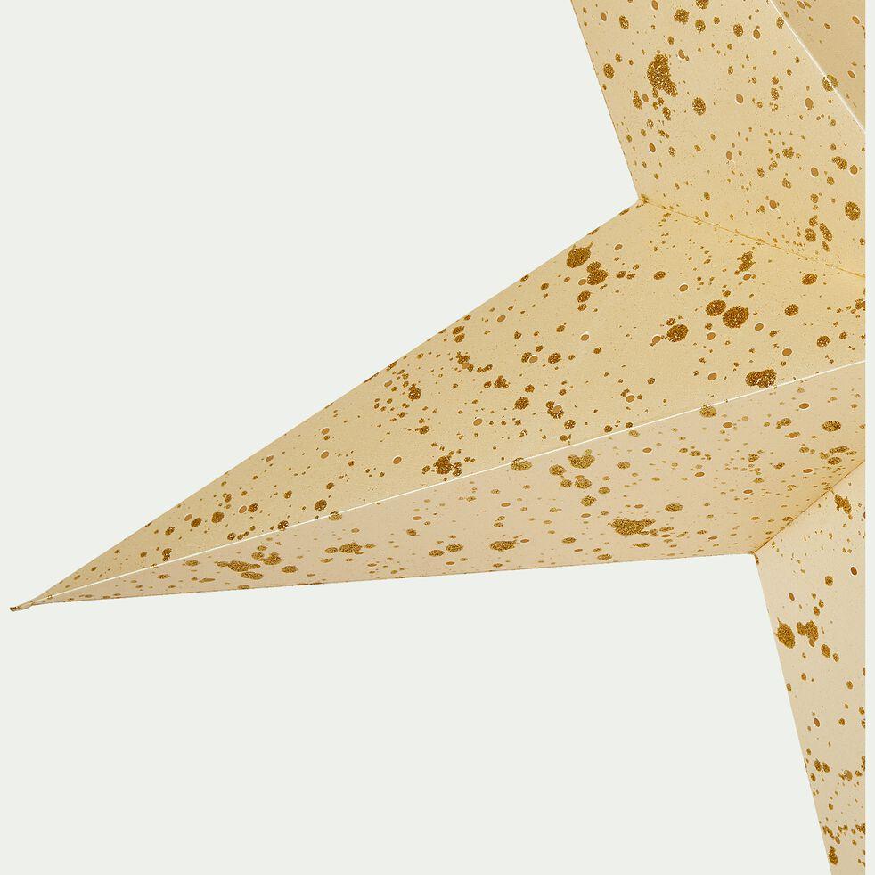 Etoile en papier à suspendre couleur crème H25cm-JOUCAS