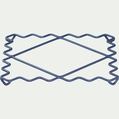 Dessous de plat en métal filaire bleu-TOGO