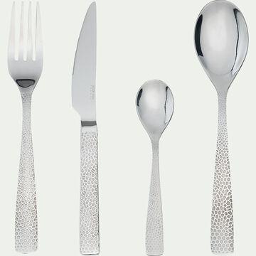 Ménagère 16 pièces en inox - gris métallisé-PIELA