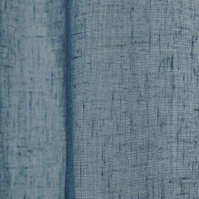 Voilage à oeillets bleu figuerolles 135x250cm-DUNE