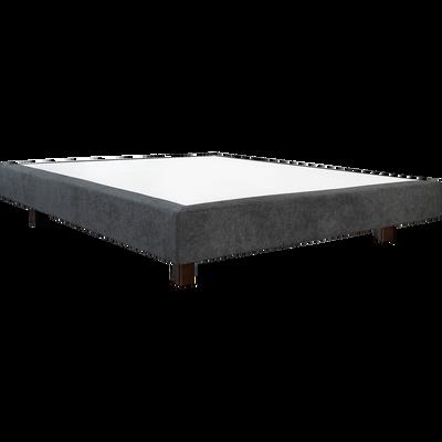 Sommier tapissier gris Duvivier 18 cm - 180x200 cm-CHIC