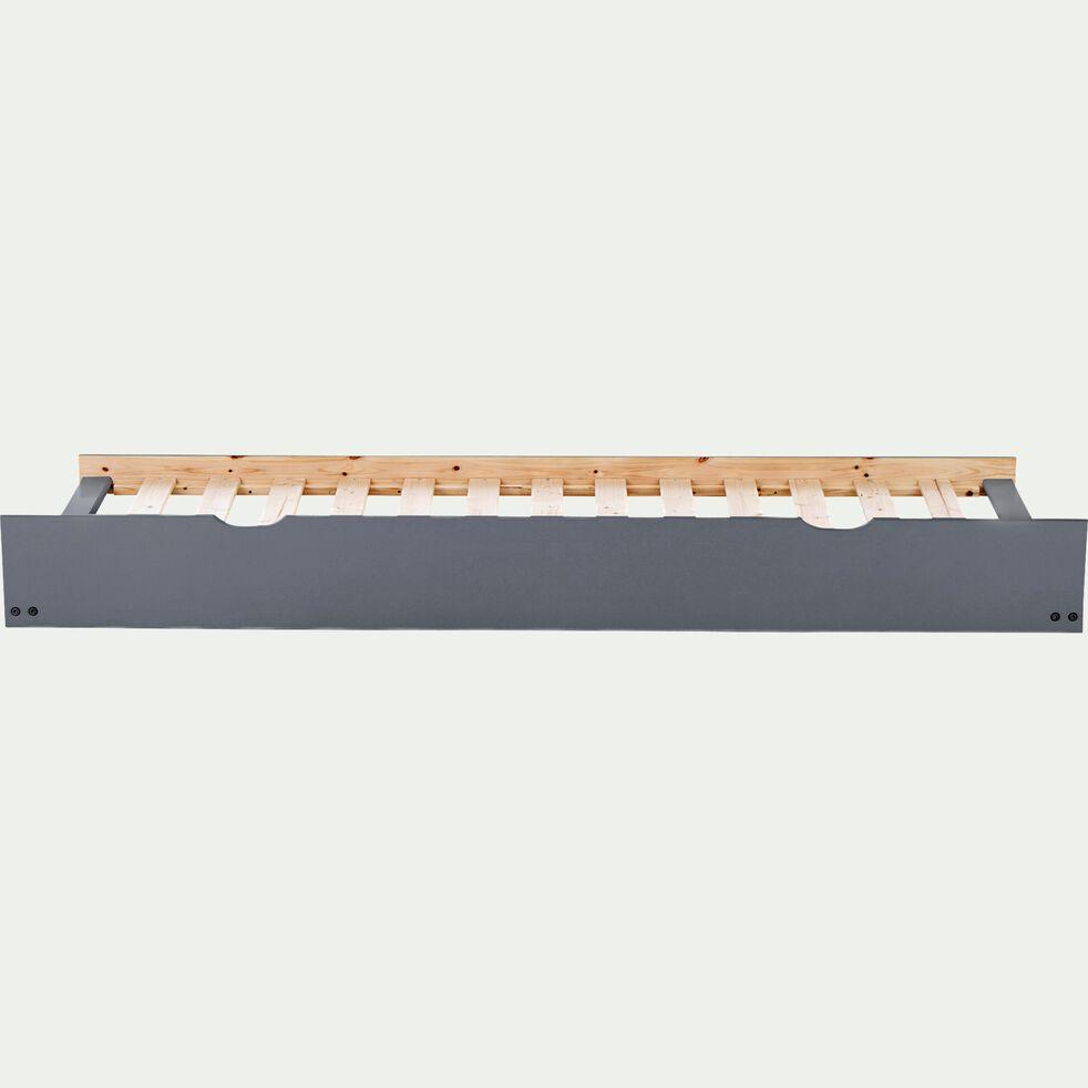 Lit gigogne tiroir de lit en bois pour lit NOA - L200cm gris-NOA