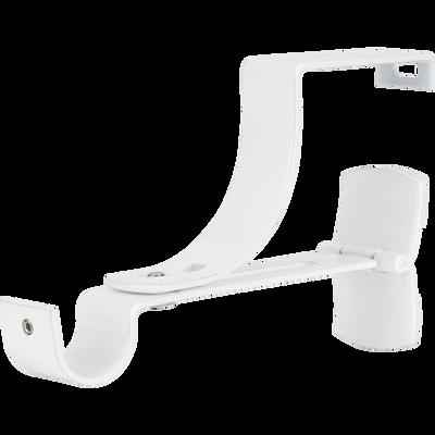 Support tringle pour volets roulants blanc D28mm-PRATIQUE
