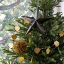 Boule de Noël dorée D12,7cm-KAWIT