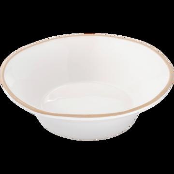 Assiette creuse en faïence blanc ventoux D16cm-LUBERON