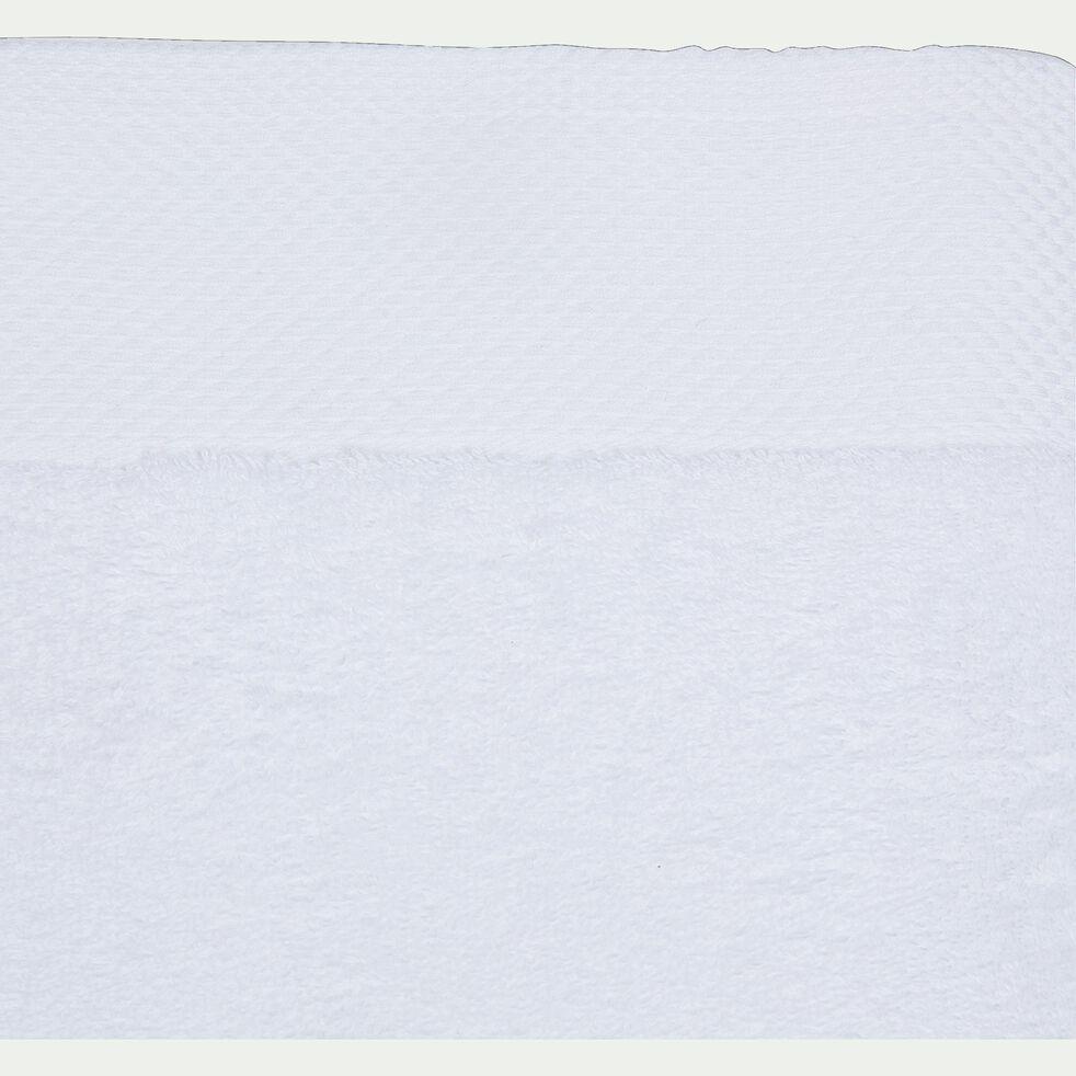Drap de douche en coton peigné - blanc optique 70x140cm-AZUR