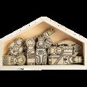 Crèche en bois L35cm-MINICRECHE