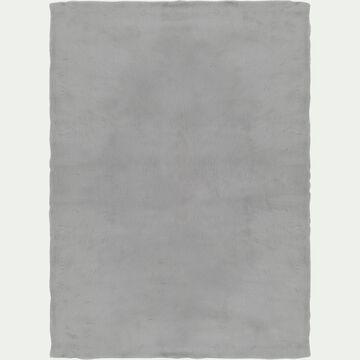 Tapis imitation fourrure - gris 160x230cm-JOUVE