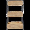 Meuble d'appoint 3 niveaux H78cm-LU