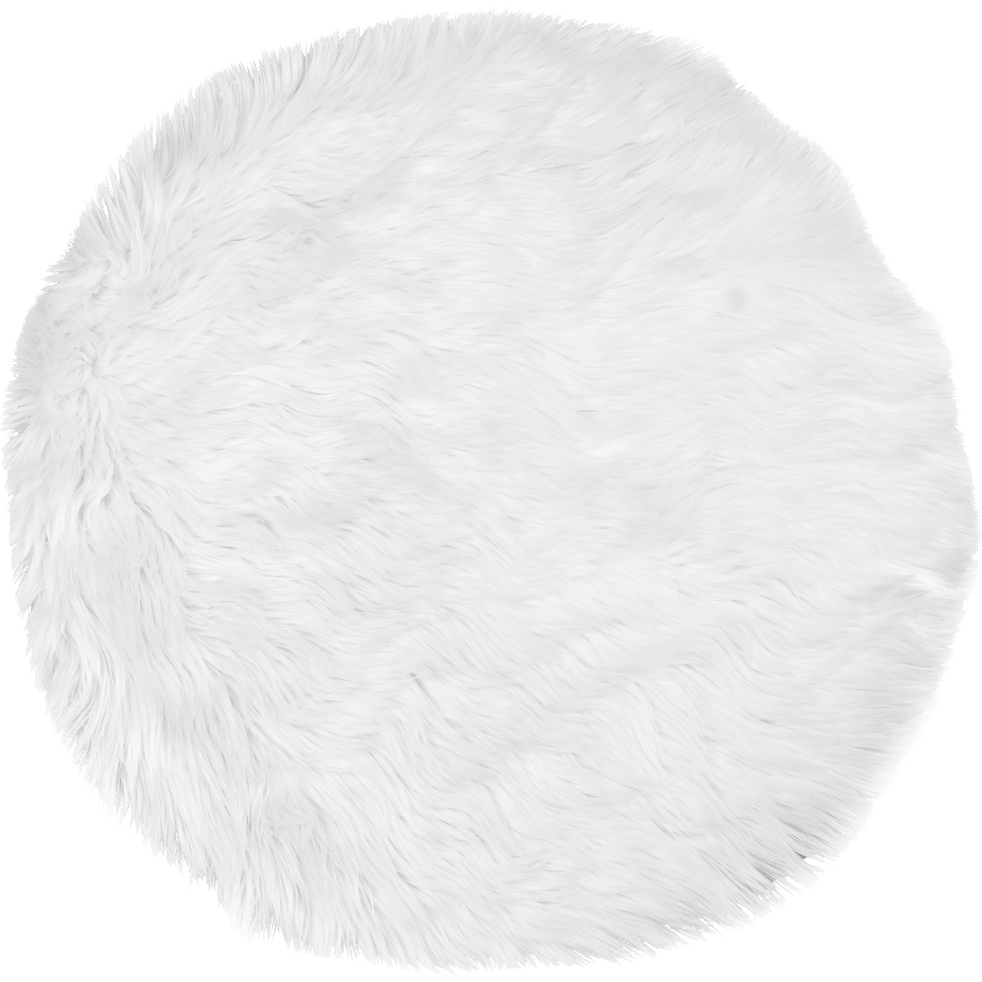 tapis rond blanc imitation fourrure d70cm bundchen 70 cm tapis ronds alinea. Black Bedroom Furniture Sets. Home Design Ideas