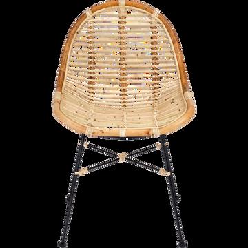 Chaise en rotin sans accoudoirs naturel-ISRA