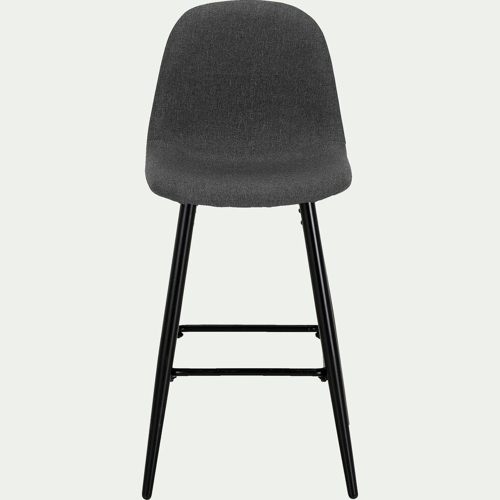 Chaise de bar H66cm - gris ardoise-LOANA