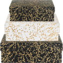 Boîte déco à motif floral doré L10,5xl10,5xH3,5cm-Ginko