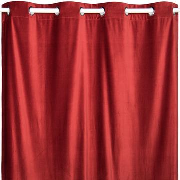 Rideau à œillets en coton rouge 140x250cm-METISS