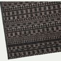 Tapis intérieur et extérieur à motifs - noir 200x290cm-FUVEAU
