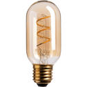 Ampoule LED décorative ambre D4,5 culot E27-TUBE
