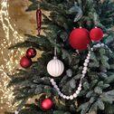 Lot de boules de Noël en plastique rouge-THIENE