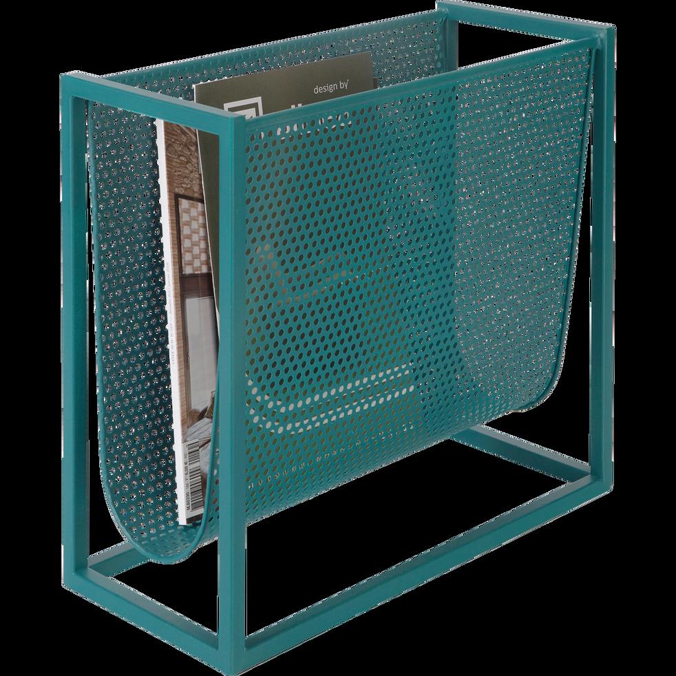 porte revue en m tal bleu l40xl18xh36cm mala catalogue storefront alin a alinea. Black Bedroom Furniture Sets. Home Design Ideas