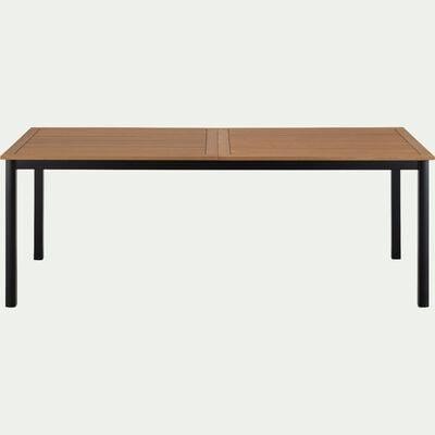 Table de jardin extensible en eucalyptus et aluminium (8 à 12 places) - noir-DOLE