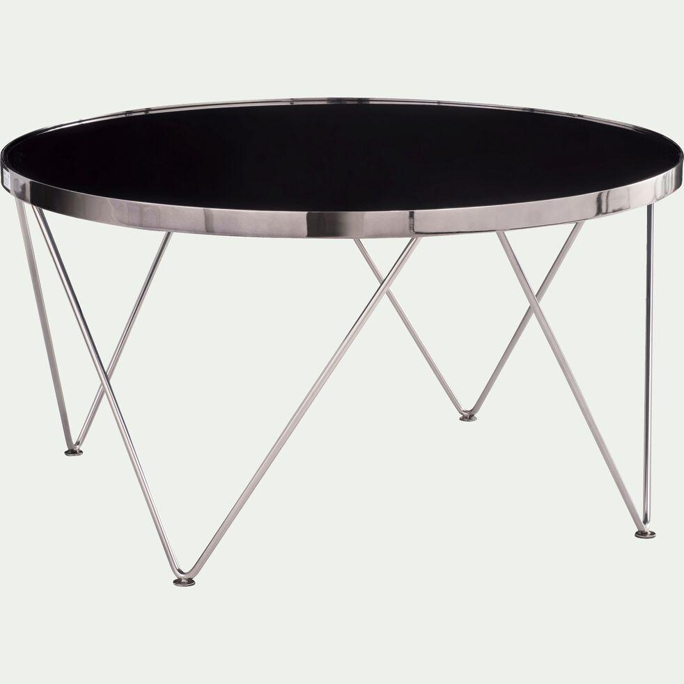 Table basse ronde en métal avec plateau miroir-ACOSTA
