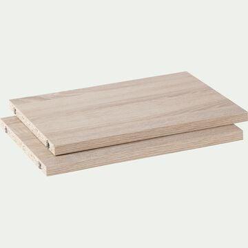 Lot de 2 tablettes en bois - bois clair L37cm-Biala