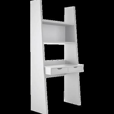 Bureaux droit et bureau d 39 angle en bois pour la chambre salon alinea - Bureau avec etagere ikea ...