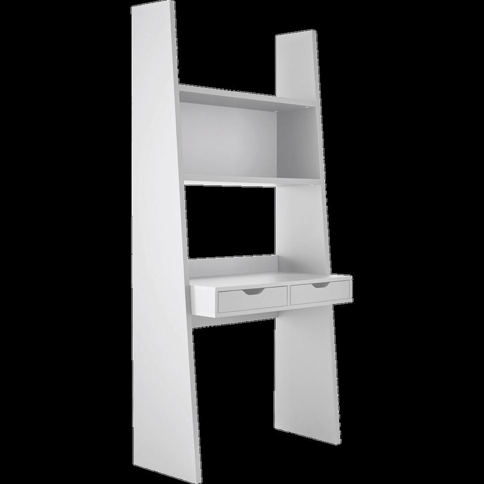 bureau tag re blanc 2 tiroirs h186cm yolo bureaux alinea